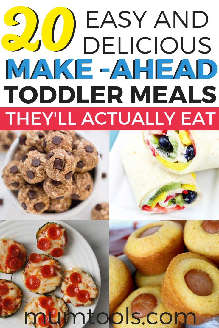Pre-prepared toddler friendly meal ideas they will hopefully eat. We all know toddlers are fussy at the best of times, so these simple toddler meals include options for freeze ahead toddler snacks as well as many quick bites to grab when you're on the go (which is always, amirite?).