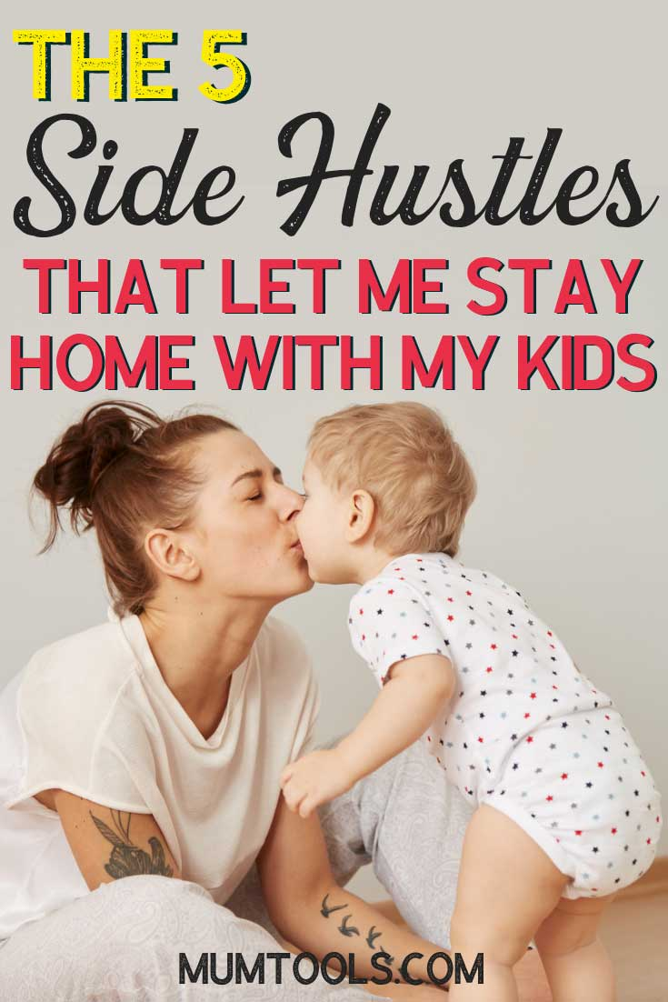 Tips to earn money from home as a mum. This is exactly how I afford to be a stay at home mum. Check out these Australian side hustles and start making extra money from home today.